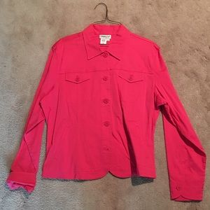 Fucsia pink button up jacket
